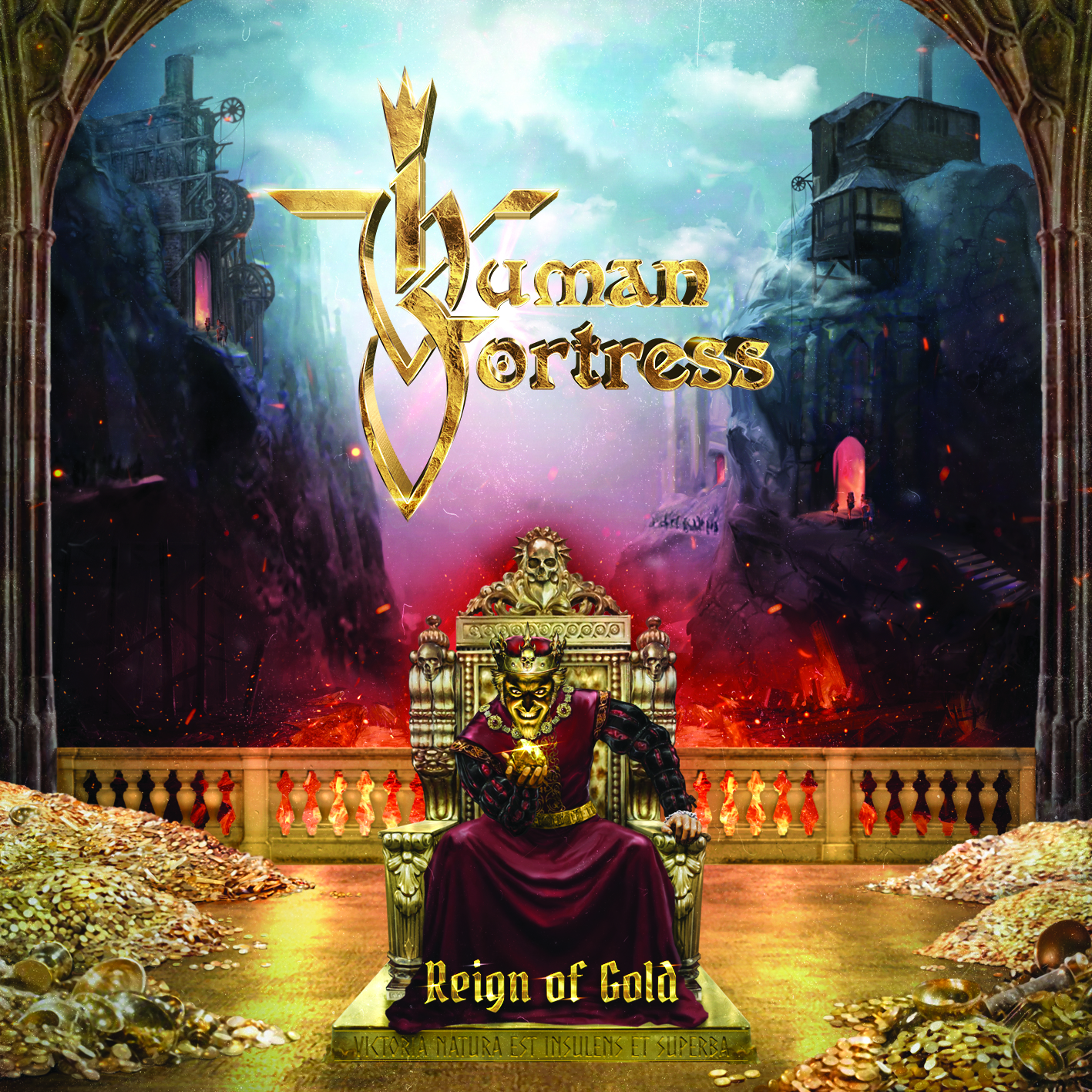 Human_Fortress_2019_Reign_of_Gold_AFM_CD_label